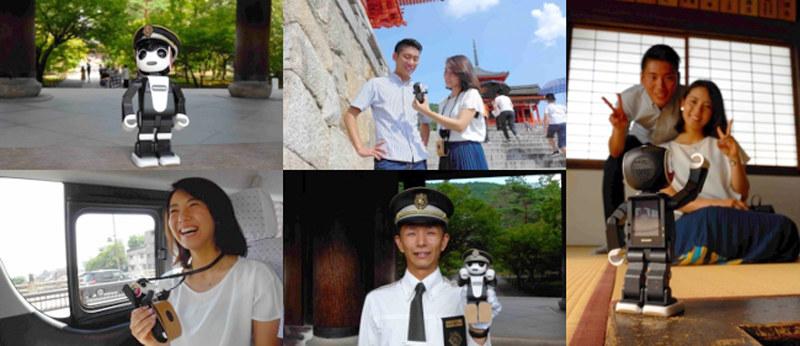 京都の観光情報や歴史、文化についてロボホンが語りかけてくる