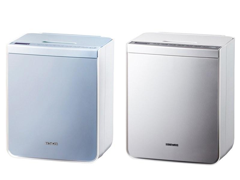 布団乾燥機「アッとドライ HFK-VH1000」、写真左がウィステリア、写真右がプラチナ