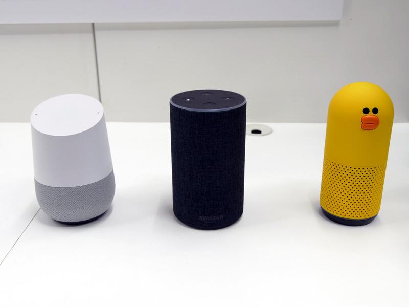 Googleアシスタント、Amazon Alexa、Line Clovaを搭載するスマートスピーカーに対応する