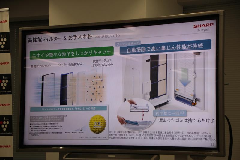 フィルターは3層構造。プレフィルターは自動掃除機能を備える