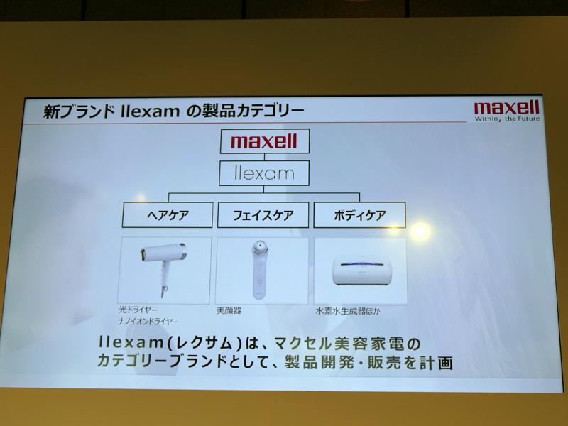 「llexam」は、ヘアケア、フェイスケア、ボディケアを展開する予定だという