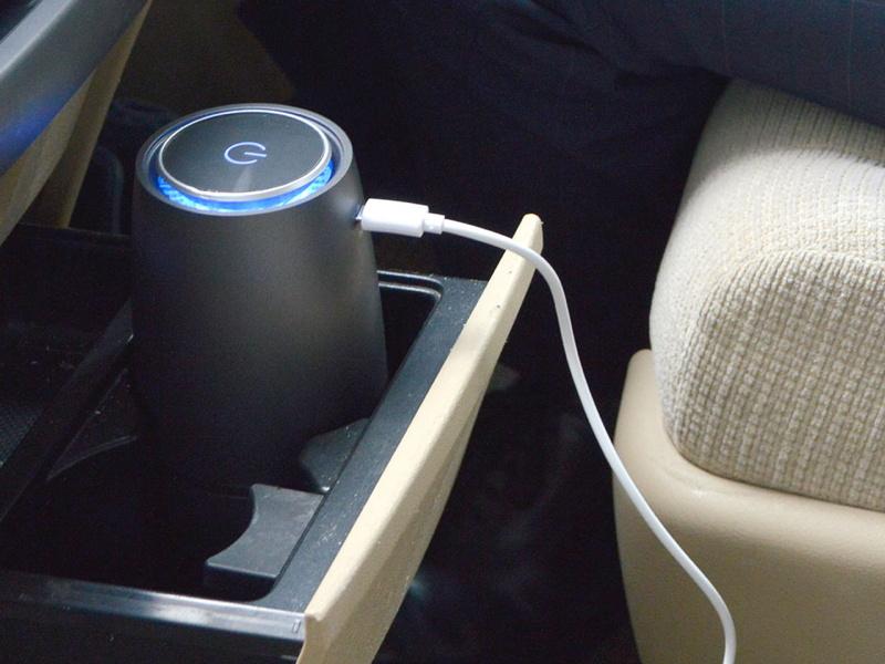 車でも使えるUSBさわやか空気清浄ボトル