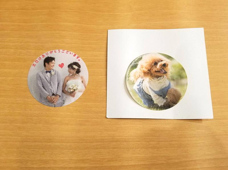 お気に入りの写真を専用ページにアップロードすると、写真が印刷されたラテアートシートが自宅に届く
