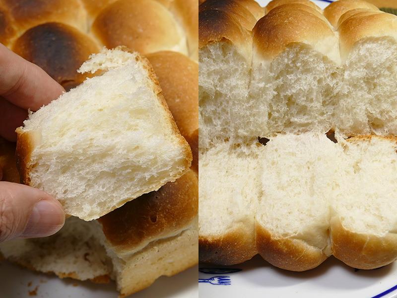 ふっくらと香ばしい自家製パンのできあがり。とても美味しい