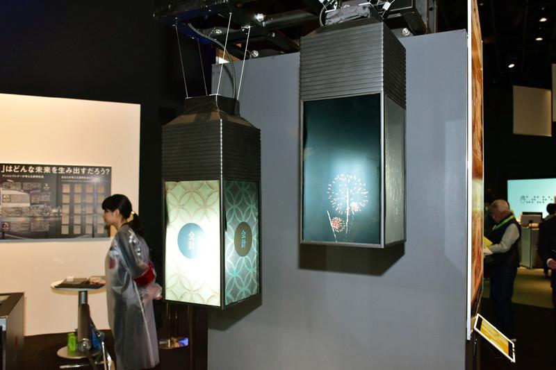 ランタン型照明にディスプレイを貼り付け、空間の演出、デジタルサイネージとしての商品訴求、映像コミュニケーションなさまざまな映像表現が可能な「Lanterna(ランターナ)」