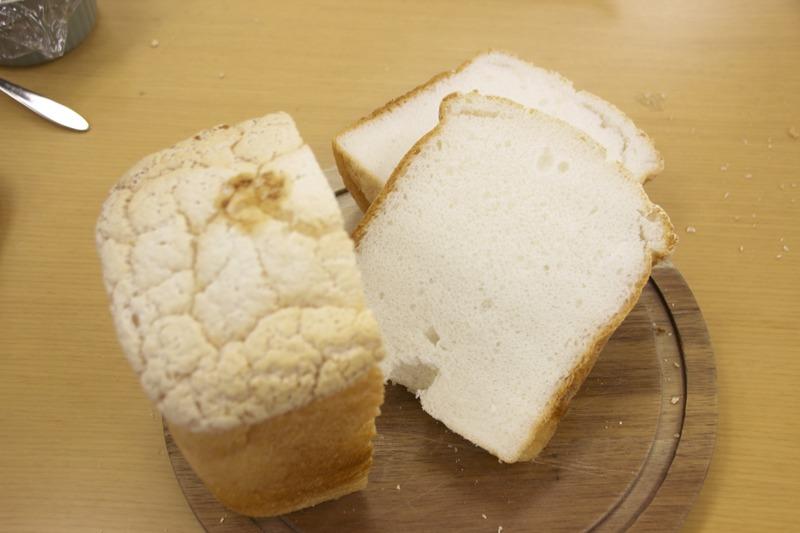 1斤の米粉パン。中身はしっとりとしていてキメが細かい。小麦を使った食パンと変わらず美味しく食べられた
