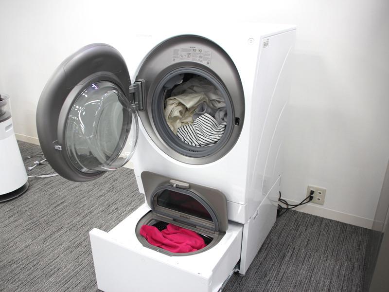 2つのドラム槽を縦に並べた洗濯機「LG SIGNATURE DUALWash」