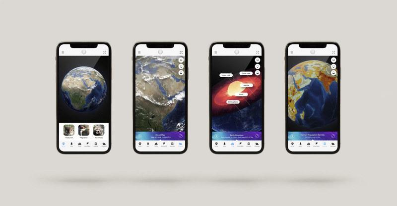 AR機能で世界各地の情報を知ることができる