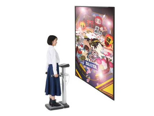 ゲーム機能付き体組成計「TANITA PINBALL」コンセプトモデルイメージ