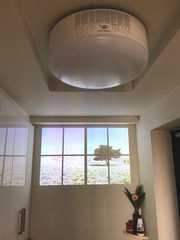 popIn Aladdin(ポップイン・アラジン)の3in1スマートライト。わが家では玄関の天井に設置している