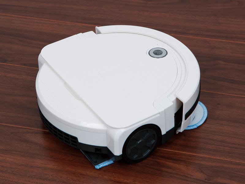 乾式の回転モップ搭載の「ロボット掃除機ノーノ―ダストII RM-72F」