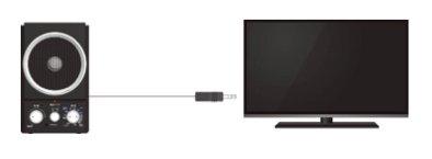 テレビとつなげると手元近くで音声を聞き取りやすくできる