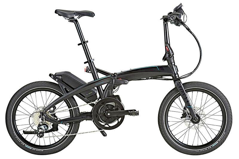 "Ternの<a href=""https://www.ternbicycles.jp/2018/products/Vektron/"" class=""n"" target=""_blank"">「Vektron S10」</a>。ミニベロタイプのe-bikeで、折り畳むこともできます。価格は29万8,000円(税抜)"