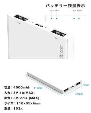 USBポートは2個備える