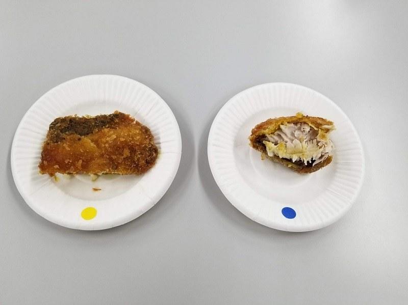 ブリのフライも卵焼きも、クーリングアシストルームで冷凍したものの方が美味しかった