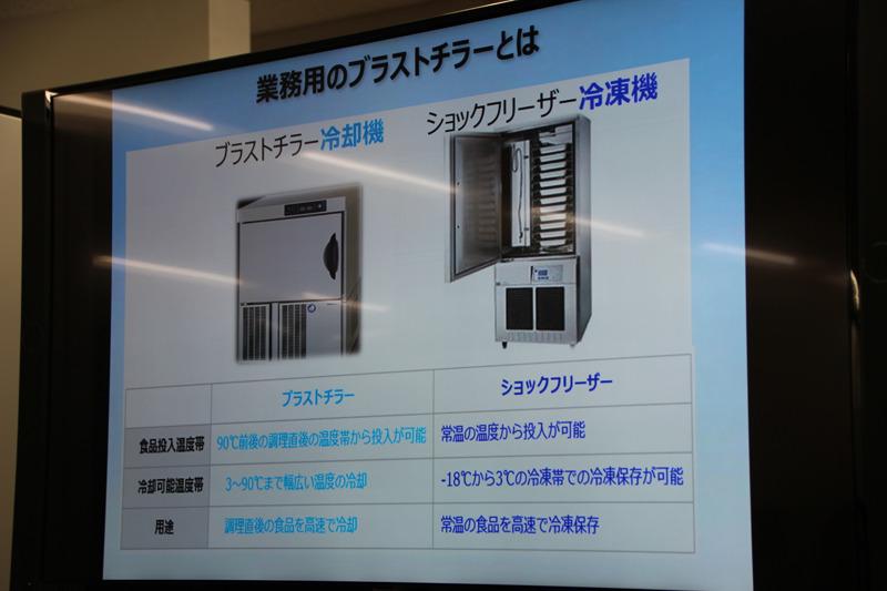 業務用冷却器「ブラストチラー」の技術を応用し、業務用レベルの冷凍スピードを実現