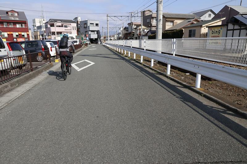 MERIDA X BASEから田京駅を目指す
