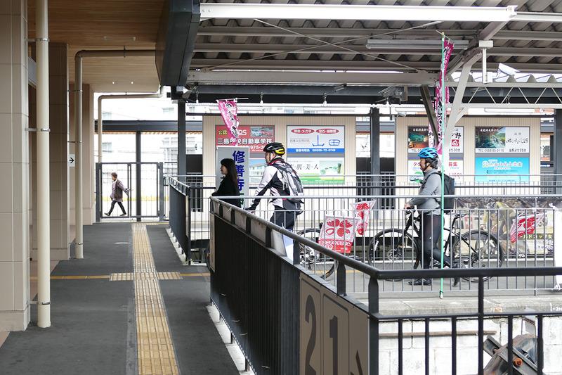 修善寺駅に到着