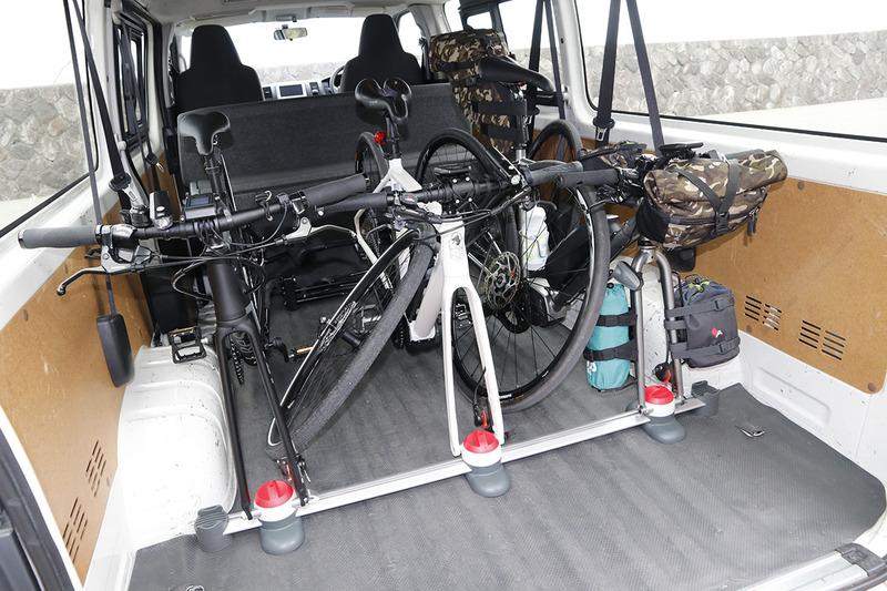 今回はe-bike3台をトランポ!