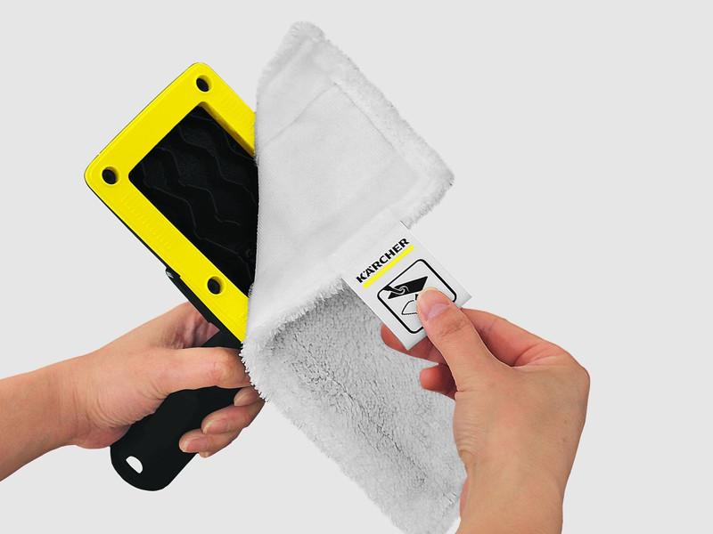 タグが付いているため、手を汚すことなくすばやく簡単にクロスを交換できる