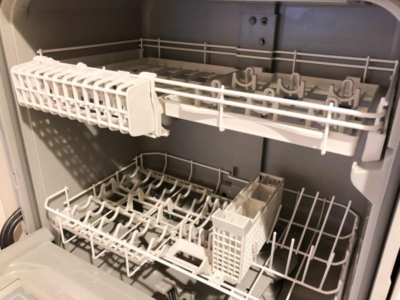 庫内はやや広くなり、配置方法が少し変わったのもあり一度に洗える量は増えた気がする
