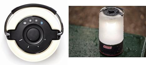本体上部に操作ボタンと明るさ調整つまみを搭載。IPX4の防水性能を備え、屋外でも活躍する