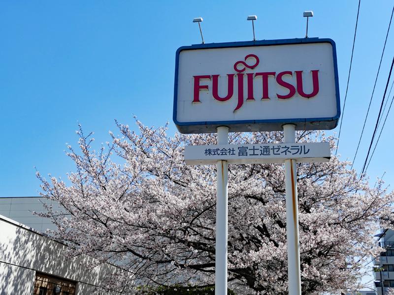 インタビューは、ちょうど桜の時期に富士通ゼネラル本社で行なわれた