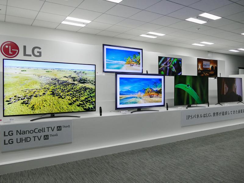 LGエレクトロニクスのIPS液晶テレビ2019年モデル、5シリーズ・10モデル