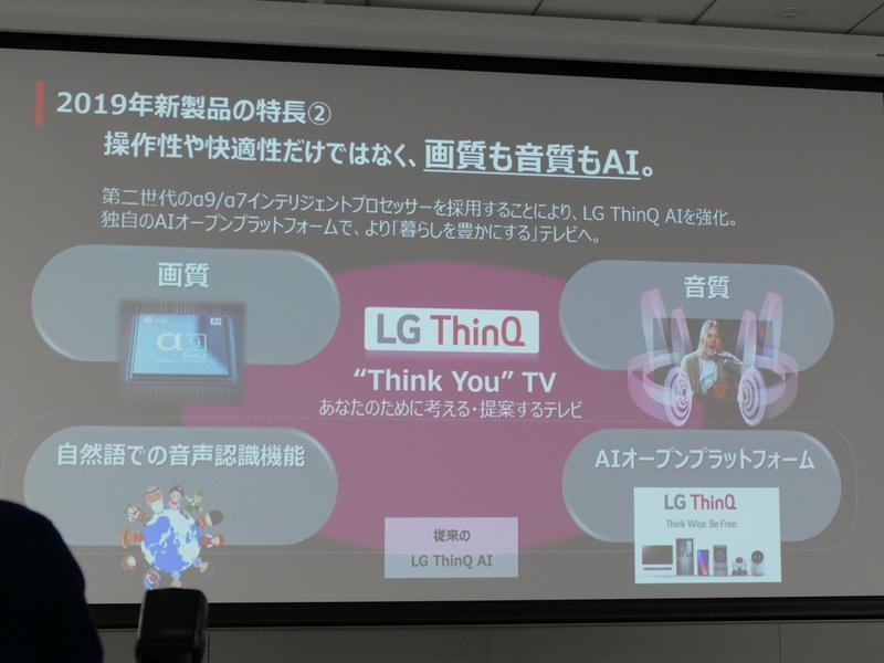 LG独自のAIプラットフォーム「LG ThinQ」もさらに進化した