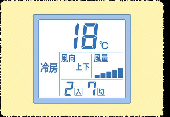 冷房モードで最低温度に設定する
