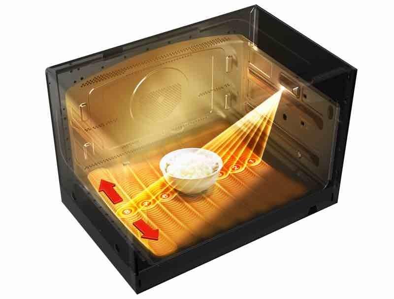 庫内1,024カ所をセンシングして、食品の位置と分量を検知する「ねらって赤外線センサー」を搭載