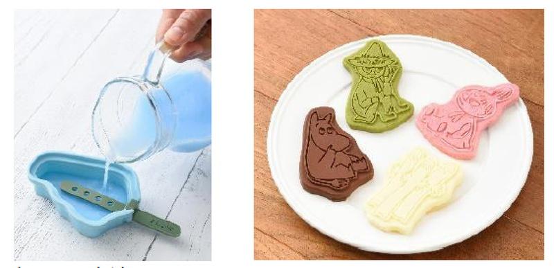 簡単にムーミン型のアイスバーやチョコレートを作れる