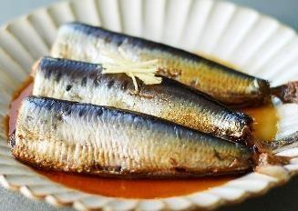 いわしの黒酢煮の調理例