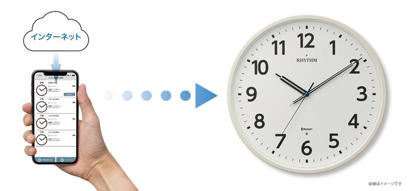 スマートフォンとBluetoothで連携し、正確な時刻を表示する