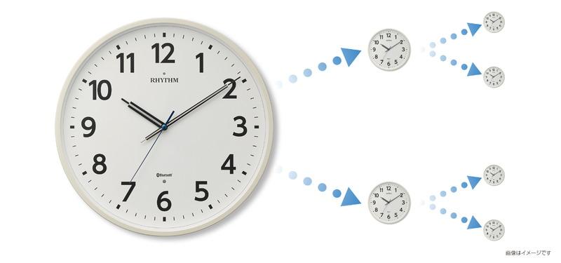 Bluetooth搭載クロック同士がつながり、すべて同じ時刻を表示