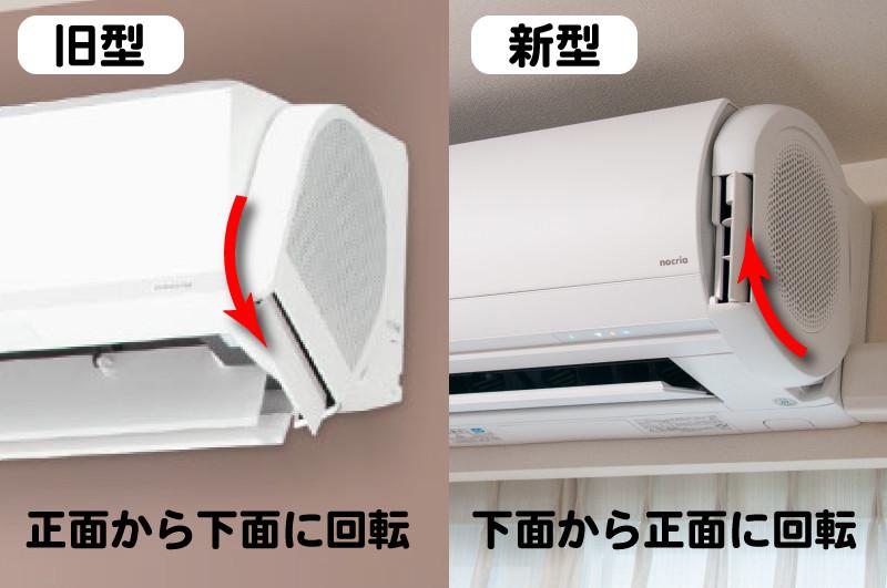 本体左右に搭載される「デュアルブラスター」は、吹出口の停止時位置が正面から下面に変更された。動作時の出っ張りも最低限に抑えられており、メカメカしさが大幅に軽減されている