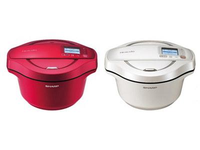 自動無水鍋「ヘルシオ ホットクック」2.4Lタイプ初の2色展開
