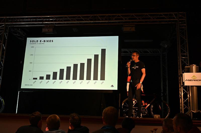 昨年度のドイツでは100万台を超えるe-bikeが出荷されたという