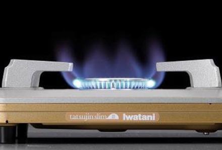ムダ火を抑制する「タテ型炎口バーナー」を搭載