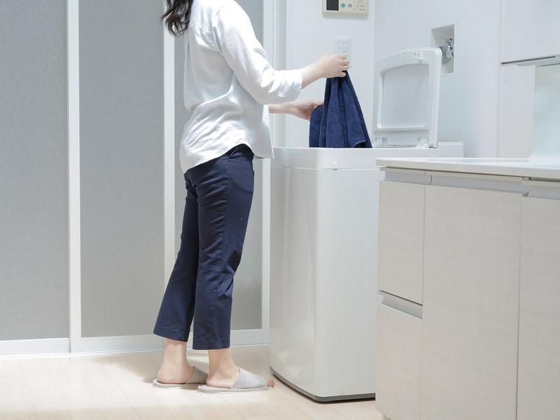 洗濯物を取り出しやすいロースタイル設計