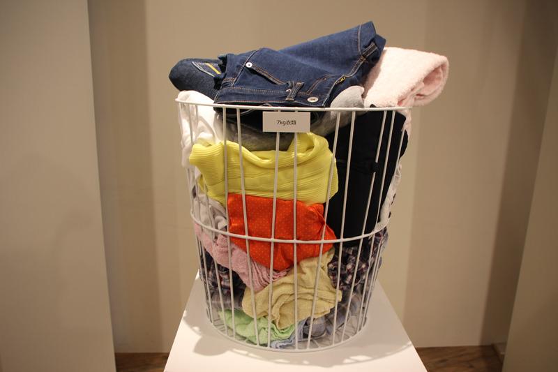 乾燥容量は業界最大クラスで、7kgの衣類を乾かせる