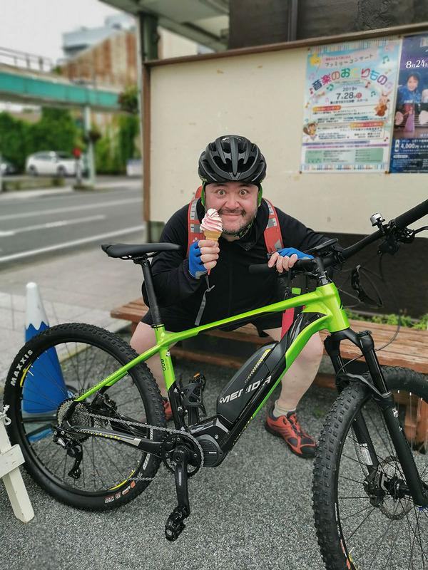 ぐる~りと富士宮市を回り、一休み。真夏、ポタリング、そしてソフトクリーム! 充実した一日。たっぷり楽しめました