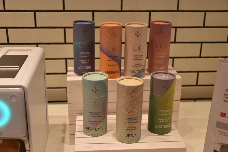 Lifyは現在「ハーバルウェルネス(ハーブティー)」、「フルーツティー」、「ファンクショナルティー(機能性中国茶)」の3コレクションで、18種類のブレンドティーをラインアップしているとのこと