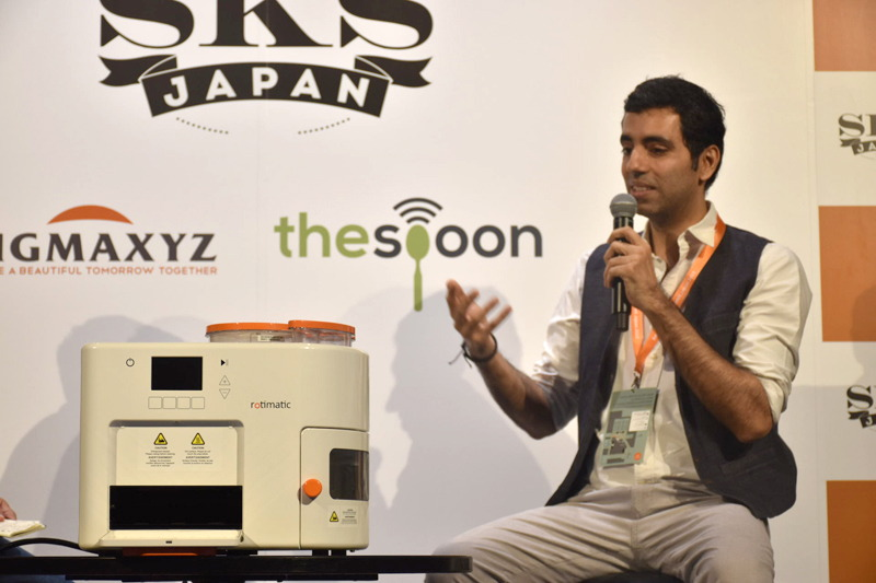 カンファレンスに登壇したZimplistic Co-founderでCEOのRishi Israni氏