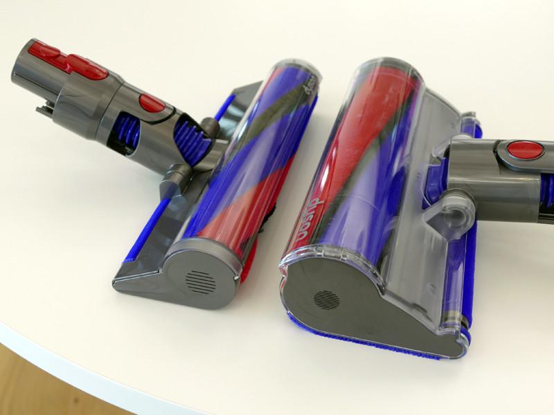 左がV8 Slim、右がV8のヘッド。40%ずつ薄型化と軽量化が図られた