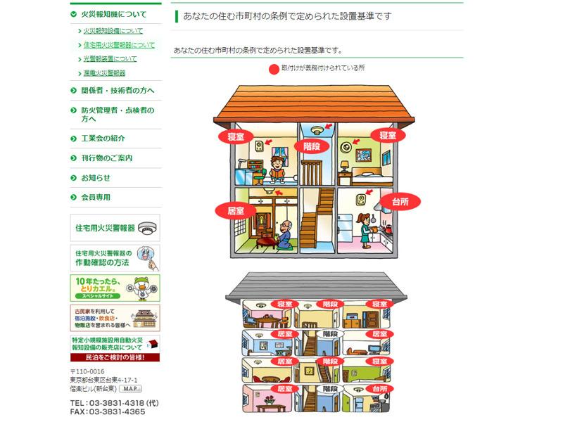東京都千代田区で、火災警報器の設置が義務付けられている部屋の例http://www.kaho.or.jp/user/awm/awm02/p02/awm02_p02b.html