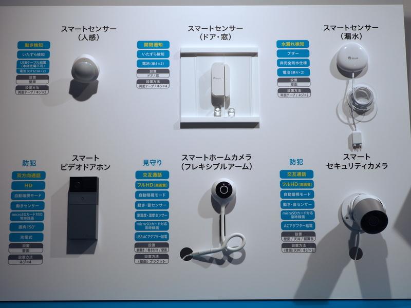 既発売の同社製IoT機器