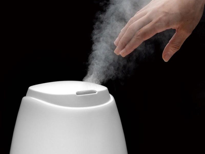 超音波振動方式なので、蒸気が熱くならず、万一触ってしまっても安全