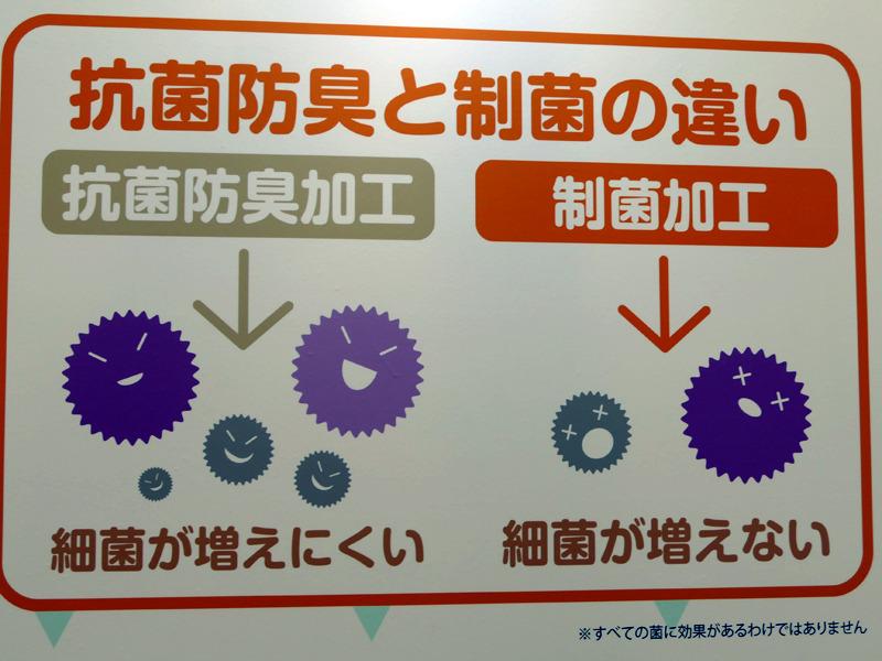 """制菌加工は""""細菌が増えない""""ため、抗菌防臭基準よりも厳しい基準を満たすという"""
