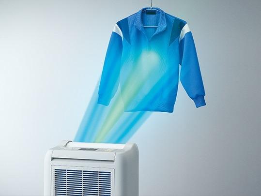 子供の体操着や部活着など、替えがなくてすぐに乾かしたいときに便利な「ズバッと乾燥モード」